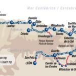 Mapa de la ruta del Transcantábrico