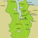 Mapa de la reserva de la Biosfera de Urdaibai